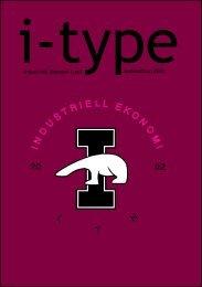 I-type Nolleedition 2006 - Sektionen för Industriell ekonomi vid ...