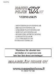 Manual till Pilke_1X