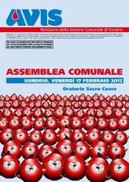 Notiziario_febbraio 2012 - AVIS Provinciale Sondrio