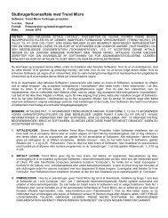 Slutbrugerlicensaftale med Trend Micro