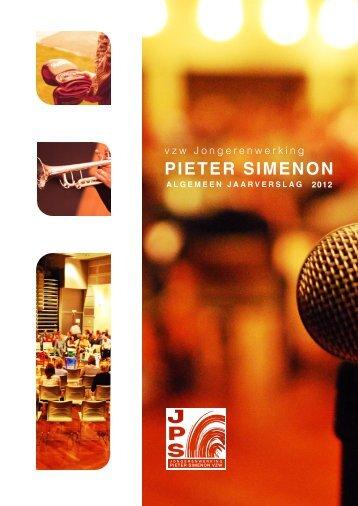 Jaarverslag 2012 Algemeen vzw - Jongerenwerking Pieter Simenon
