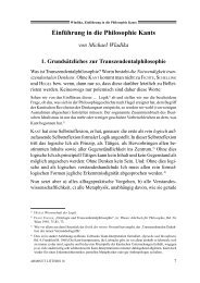 Einführung in die Philosophie Kants