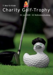 Charity Golf-Trophy