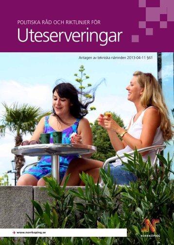 Råd och riktlinjer för uteserveringar - Norrköpings kommun