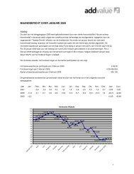 MAANDBERICHT OVER JANUARI 2009 - Add Value Fund