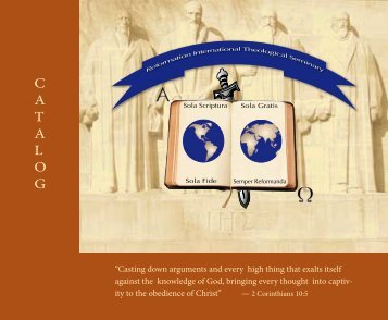 C A T A L O G  - Reformed International Theological Seminary