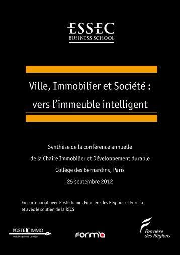 Ville, Immobilier et Société : vers l'immeuble intelligent - Poste Immo
