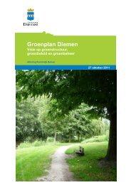 Groenplan Diemen 2011 - Gemeente Diemen