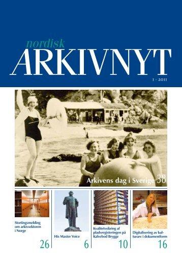 2011-1 - Nordisk Arkivnyt