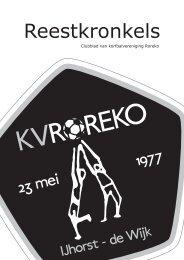 Klik hier voor de Reestkronkels van augustus 2011 - KV Roreko
