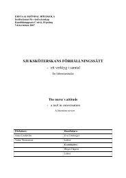 Sjuksköterskans förhållningssätt - ett verktyg i samtal - Ersta Sköndal ...