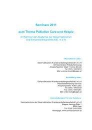 ASK Seminare 2011 - Koordination Palliativbetreuung Steiermark