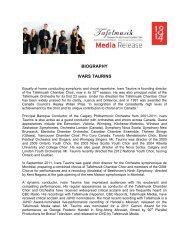 Chamber Choir Director Ivars Taurins Biography - Tafelmusik