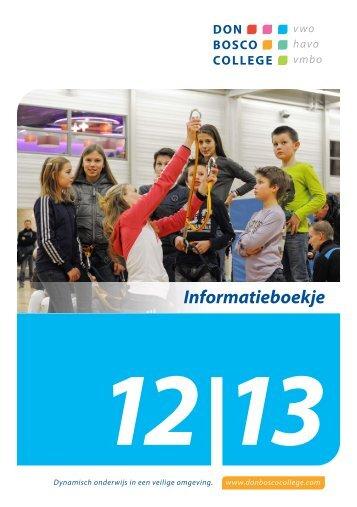Informatieboekje 12 - Don Bosco College