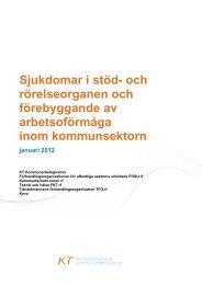 Sjukdomar i stöd- och rörelseorganen - Kommunarbetsgivarna.fi