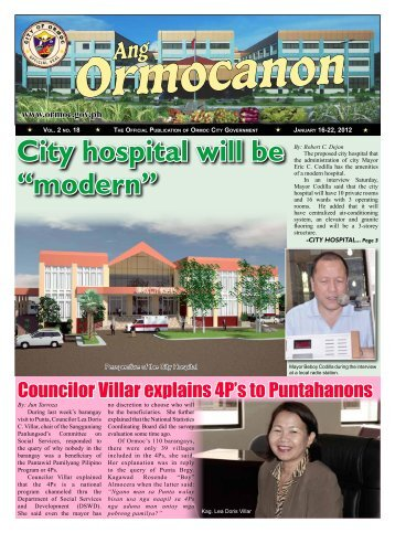 "City hospital will be ""modern"" - Ormoc.gov.ph"