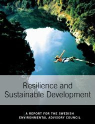 Resilience and Sustainable Development