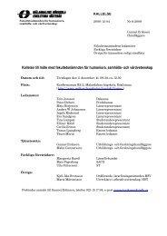 Kallelse inkl. bilagor - Mälardalens högskola
