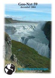 Geo-Nyt 59 december 2004 Geografilærerforeningen