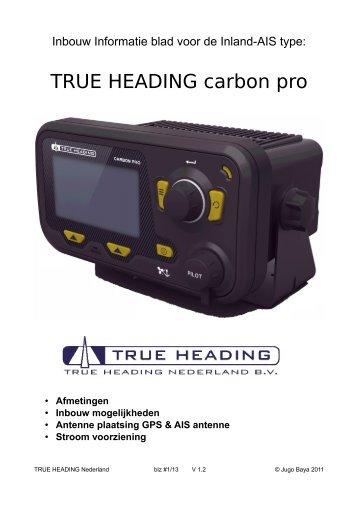 True Heading Carbon Pro AIS transponder klasse-A - Shiptron