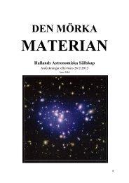 Mörk materia 2013-02-26 - Hallands Astronomiska Sällskap