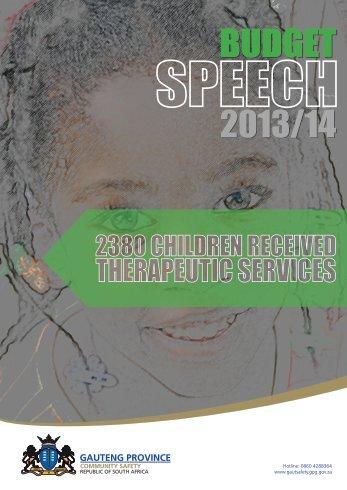 Budget Speech 2012/2013 - Gautsafety.gpg.gov.za