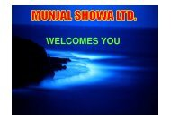 Munjal Showa Ltd, Gurgaon - Total Productive Maintenance(TPM ...