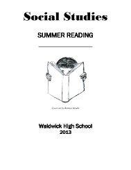 Summer Reading Social Studies Dept 13-14 SY (pdf) - Waldwick ...