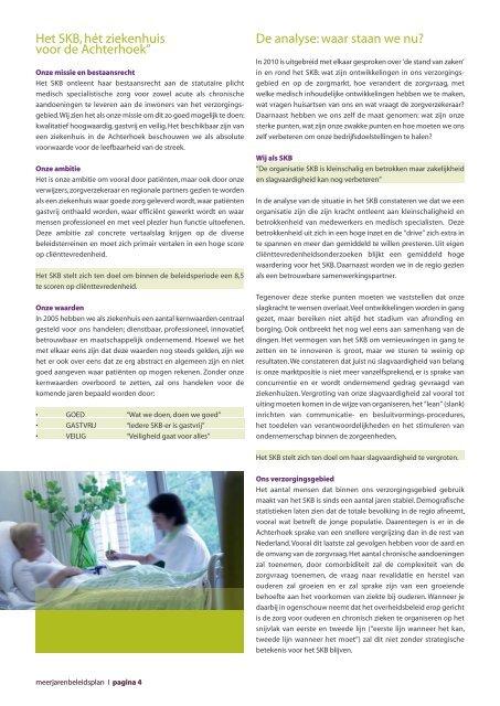 Meerjarenbeleidsplan 2011 - 2013 - Streekziekenhuis Koningin ...