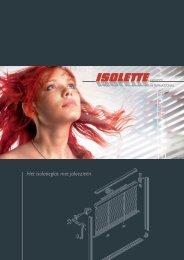 Het isolatieglas met jaloezieën - Isolette