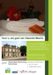 BrochureVoorUalsGast 2013.05 - Vakantie Meerlo Noord Limburg