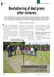 Reetablering af død green efter vinteren - Turfgrass
