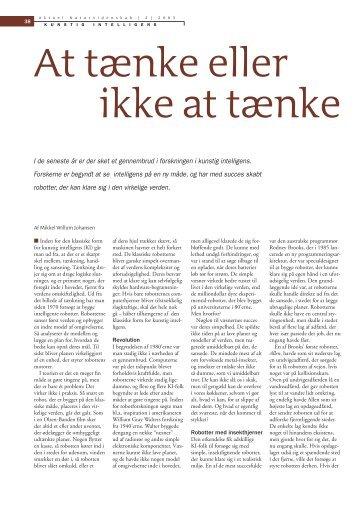 At tænke eller ikke at tænke - Mikkel Willum Johansen
