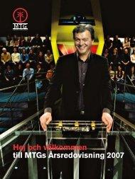 MTG Årsredovisning 2007 - Radioguiden