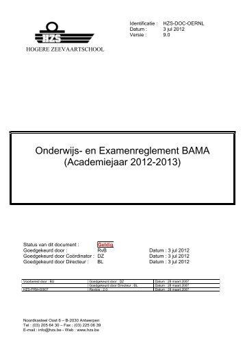 Onderwijs- en examenreglement - Hogere Zeevaartschool
