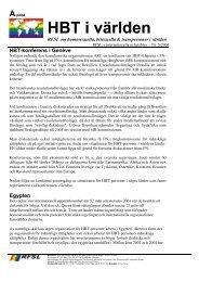 A-post HBT i världen RFSL om