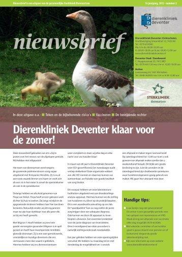 Dierenkliniek Deventer klaar voor de zomer!
