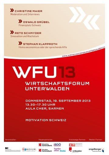 Programm (PDF) - Wirtschaftsforum Unterwalden
