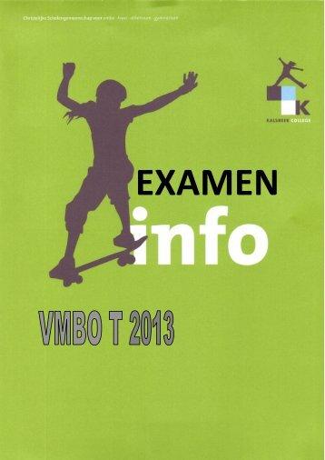 Exameninfo klas 4T