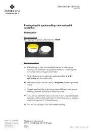 Provtagning för sputumodling, information till vårdenhet