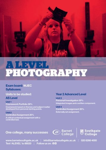 A LEVEL PHOTOGRAPHY