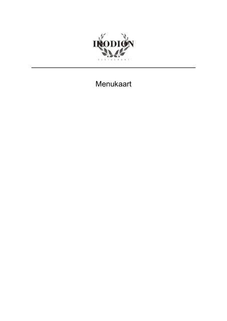 menu - irodion zaandam