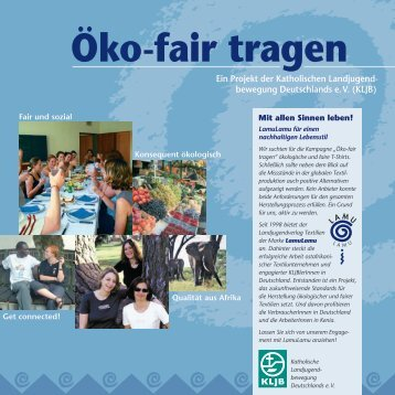 Öko-fair tragen - KLJB