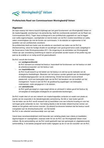 Profielschets RvC - Woningbedrijf Velsen