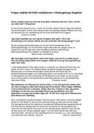 Frågor ställda till KAX-redaktionen i Helsingborgs Dagblad
