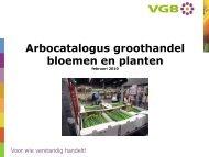 Arbocatalogus groothandel bloemen en planten - VGB