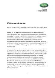 PRESSE INFORMATION Weltpremiere in London - Auto Stahl