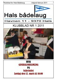KLUBBLAD NR 1 2011 - Hals bådelaug