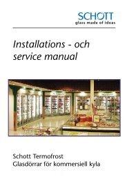 Installations - och service manual