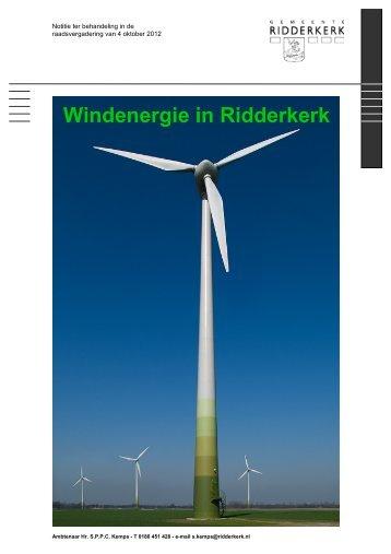 Windenergie in Ridderkerk - Gemeente Ridderkerk
